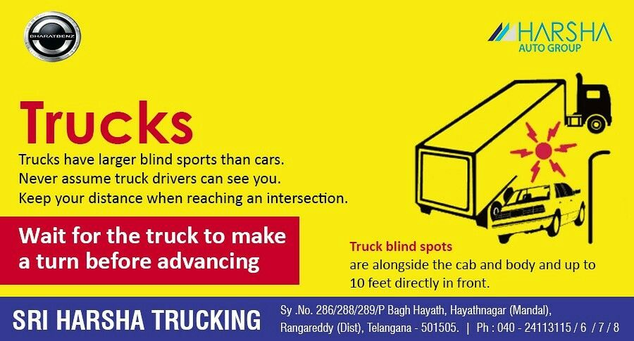 Special Attention On Road Safety Trucks Are Giant Vehicles