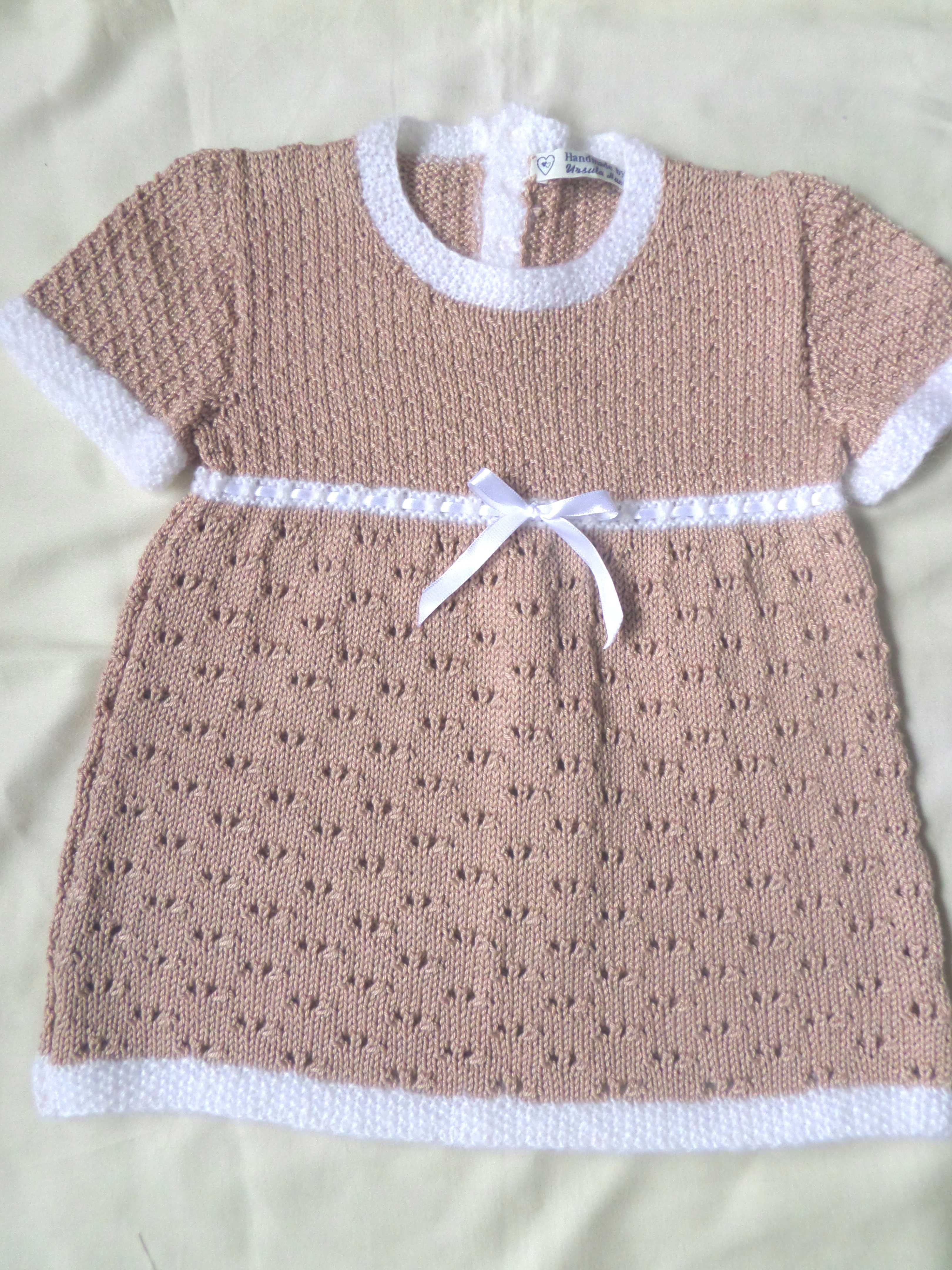 6fd5d7c17183 Beautiful pearlised cotton and Angora trimmed dress. Age 18-24 months  available now, sized: Chest 24ins/ 61cm under arm Length 18in/ 46cm OTHER  SIZES ...