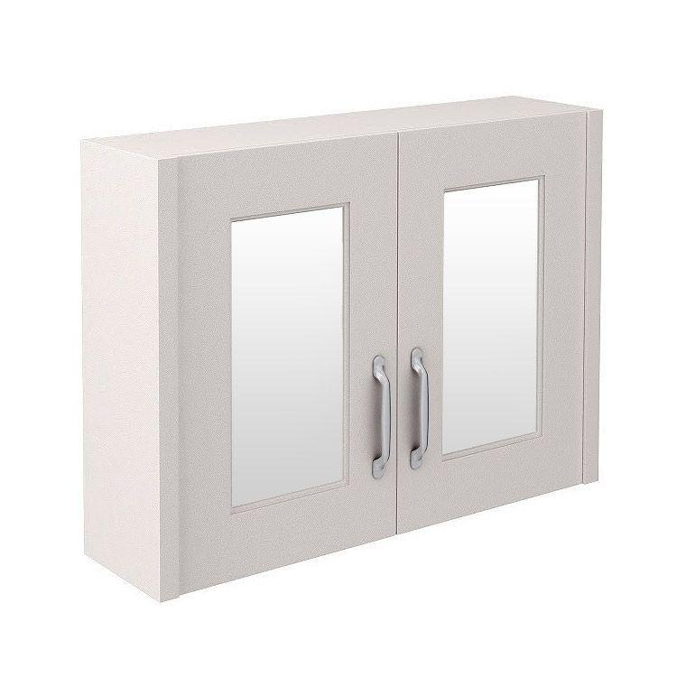 Devon Cashmere 800mm Traditional 2 Door Mirror Cabinet ...