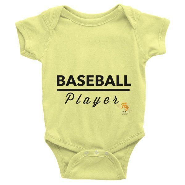 Baseball Player Fly Tots Infant short sleeve one-piece