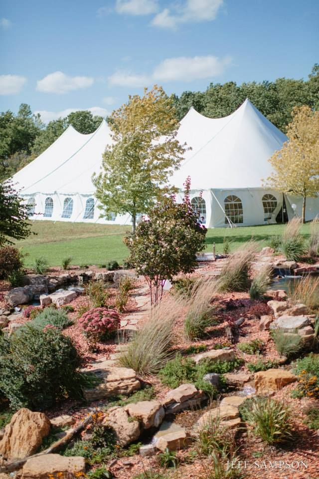 High Peak Pole Tent With Window Sides Used For The Wedding