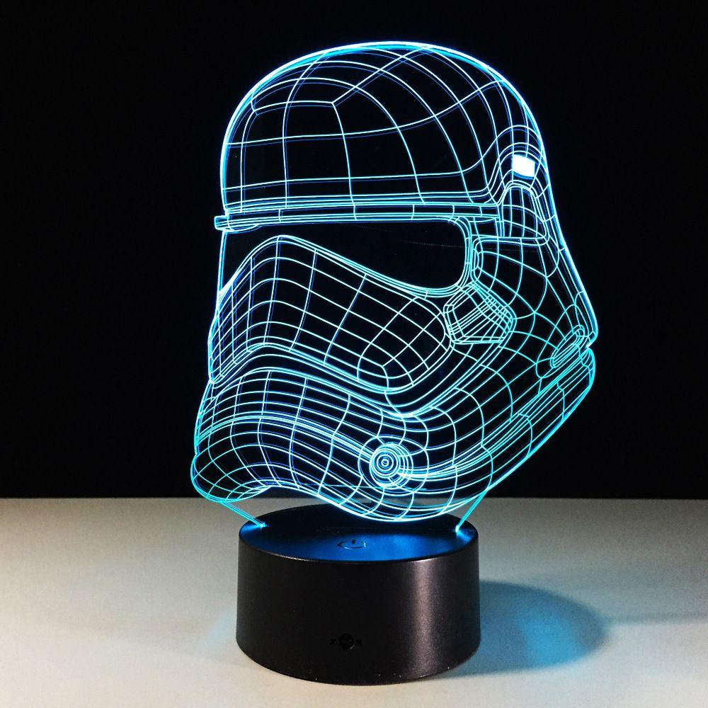 Star Wars Imperial Stormtrooper 3d Led Light Usb Creative 3d Lighting Lamp Visual Night Lights Star War 3d Led Light Lights Lamp Light