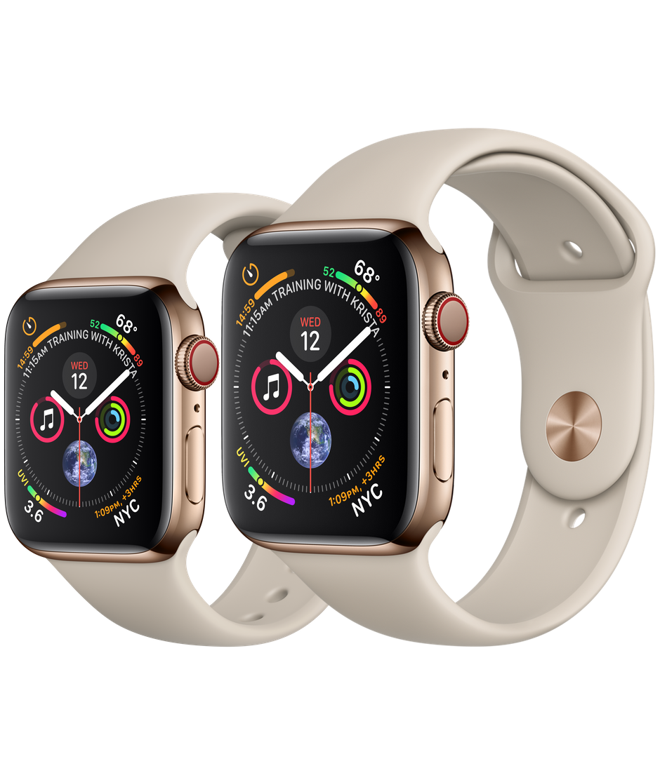 a4011e7e33e Apple Watch - Gold Stainless Steel Case with Stone Sport Band - Apple