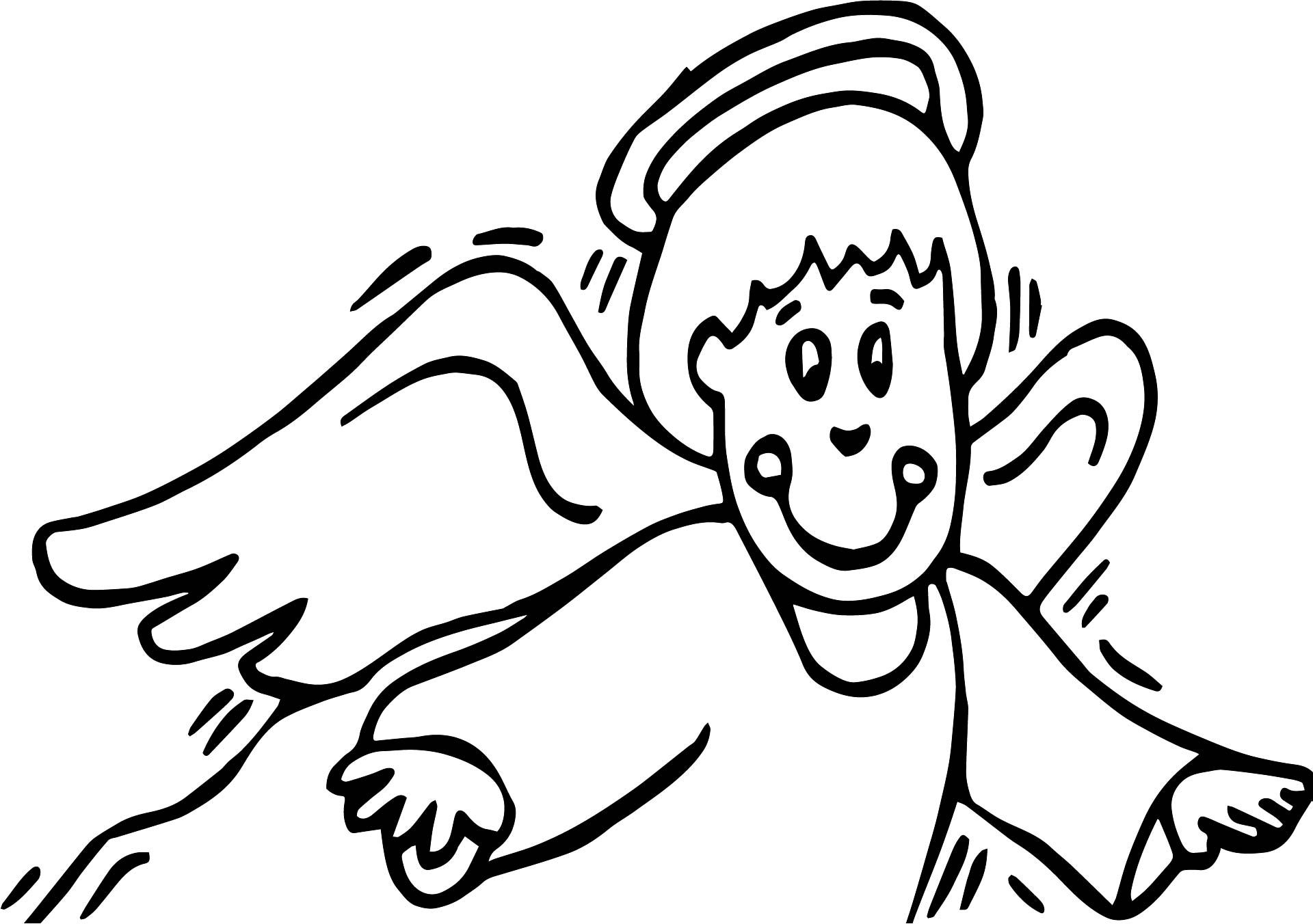 nice Angel All Saint Day Coloring Page | Santa coloring ...