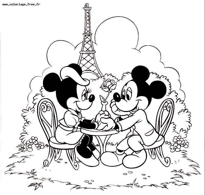 Coloriage Minnie Et Mickey A Imprimer Beautiful Coloriage Disney