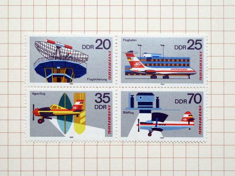German airline stamps.