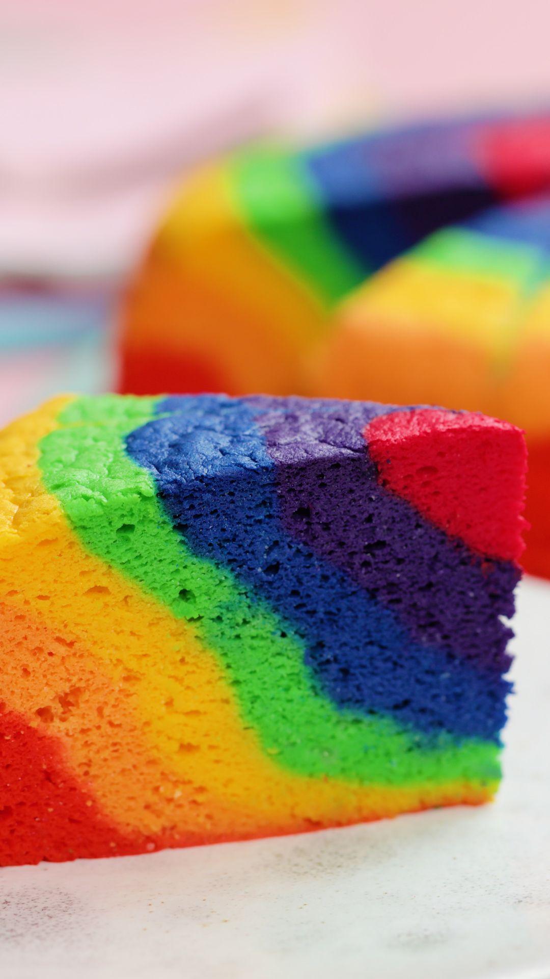 Rainbow Sponge Cake #cakesanddeserts