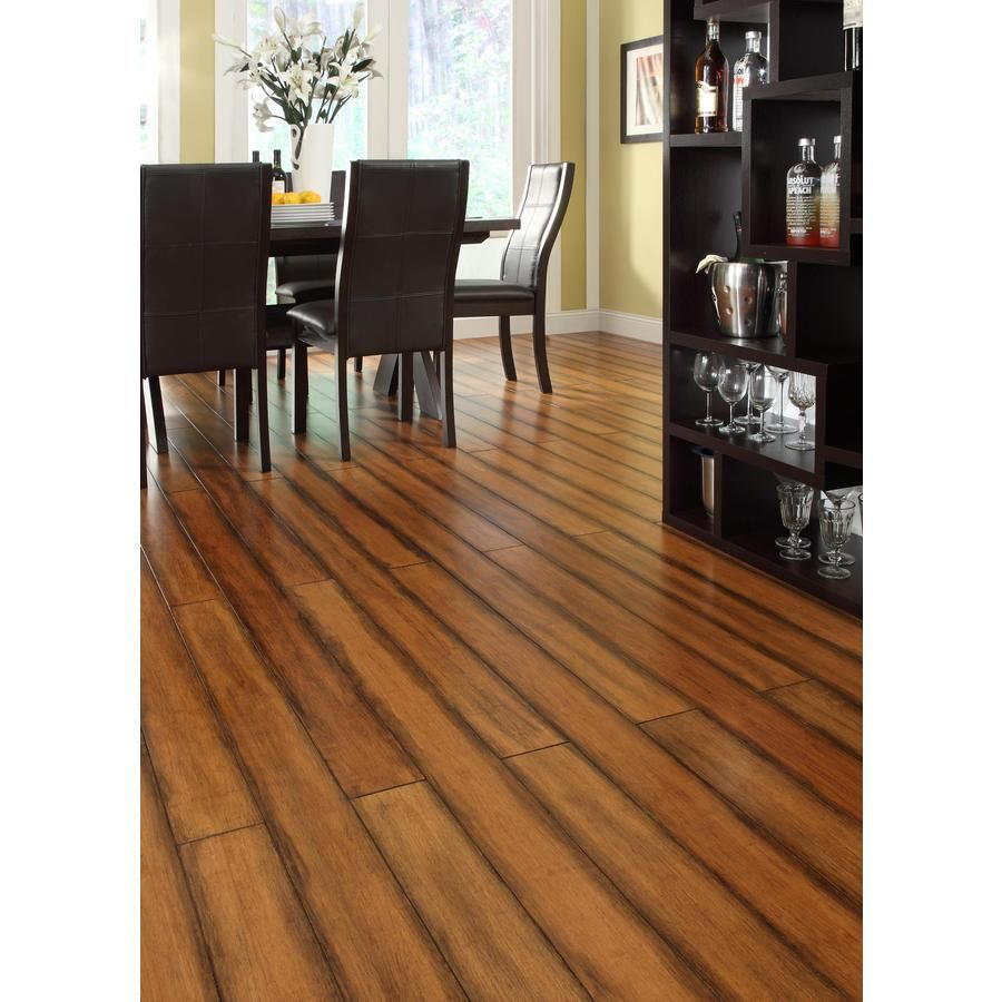 Shop Easoon Exotic DIY In W Prefinished Bamboo Locking Hardwood - Lowes click and lock flooring