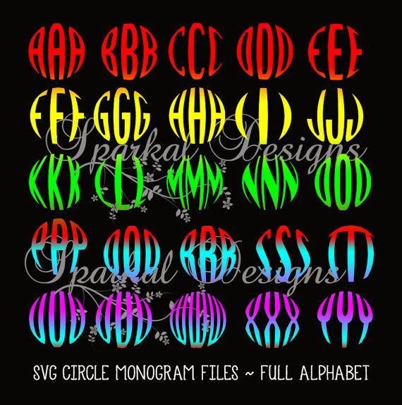 Circle Monogram SVG File Valentine Clipart by SparkalDigitalDesign