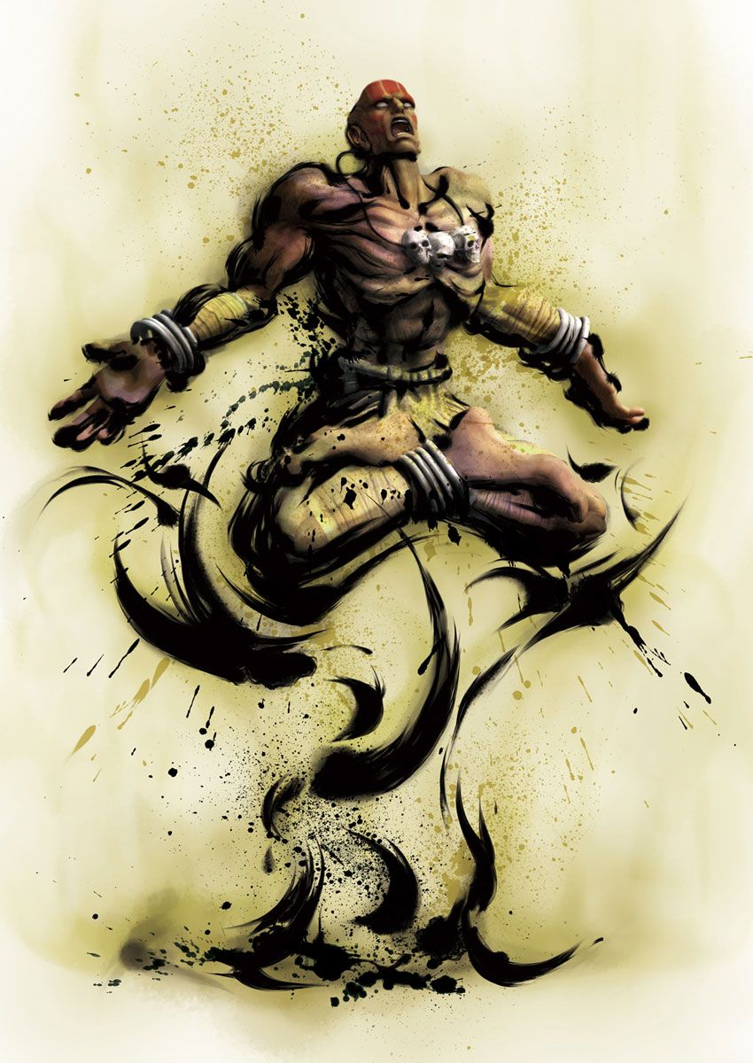 Dhalsim Street Fighter Tattoo