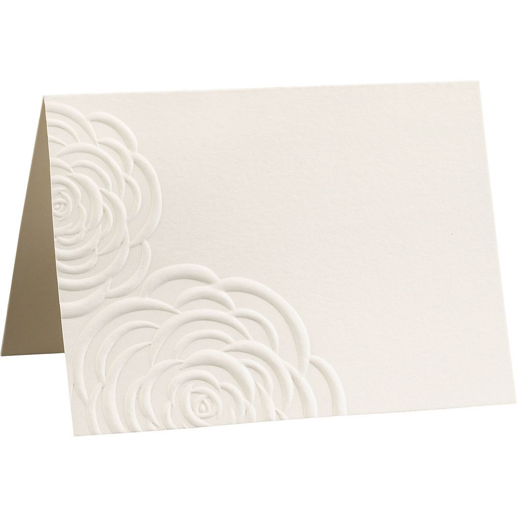 Embossed roses place cards paper source bridezilla pinterest embossed roses place cards paper source maxwellsz