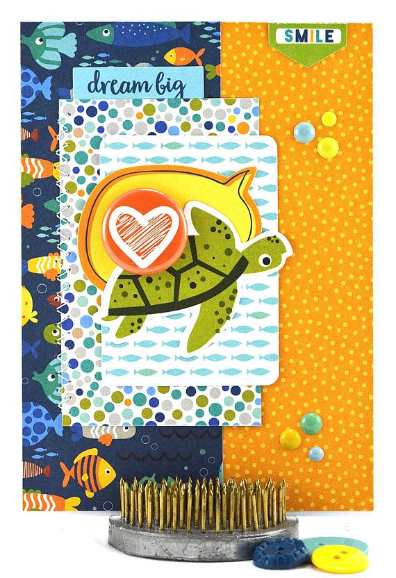 Little boys birthday card turtle birthday card under the sea little boys birthday card turtle birthday card under the sea birthday card turtle theme homemade birthday card turtle card ooak bookmarktalkfo Image collections