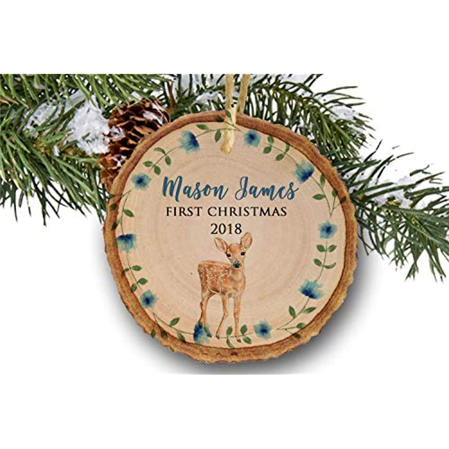 Baby s First Christmas 2018 Personalized 1st Christmas Ornament for