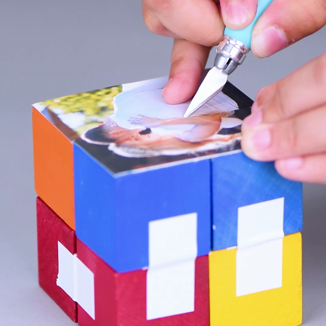 DIY Infinity Photo Cube | Crafts | Infinity photo, Photo