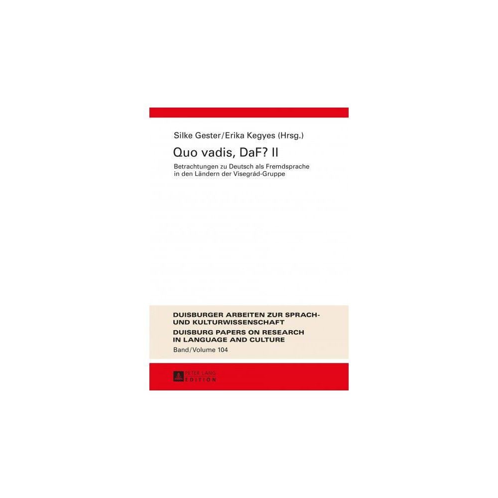 Quo Vadis, Daf? ( Duisburger Arbeiten Zur Sprach- Und Kulturwissenschaft) (Hardcover)