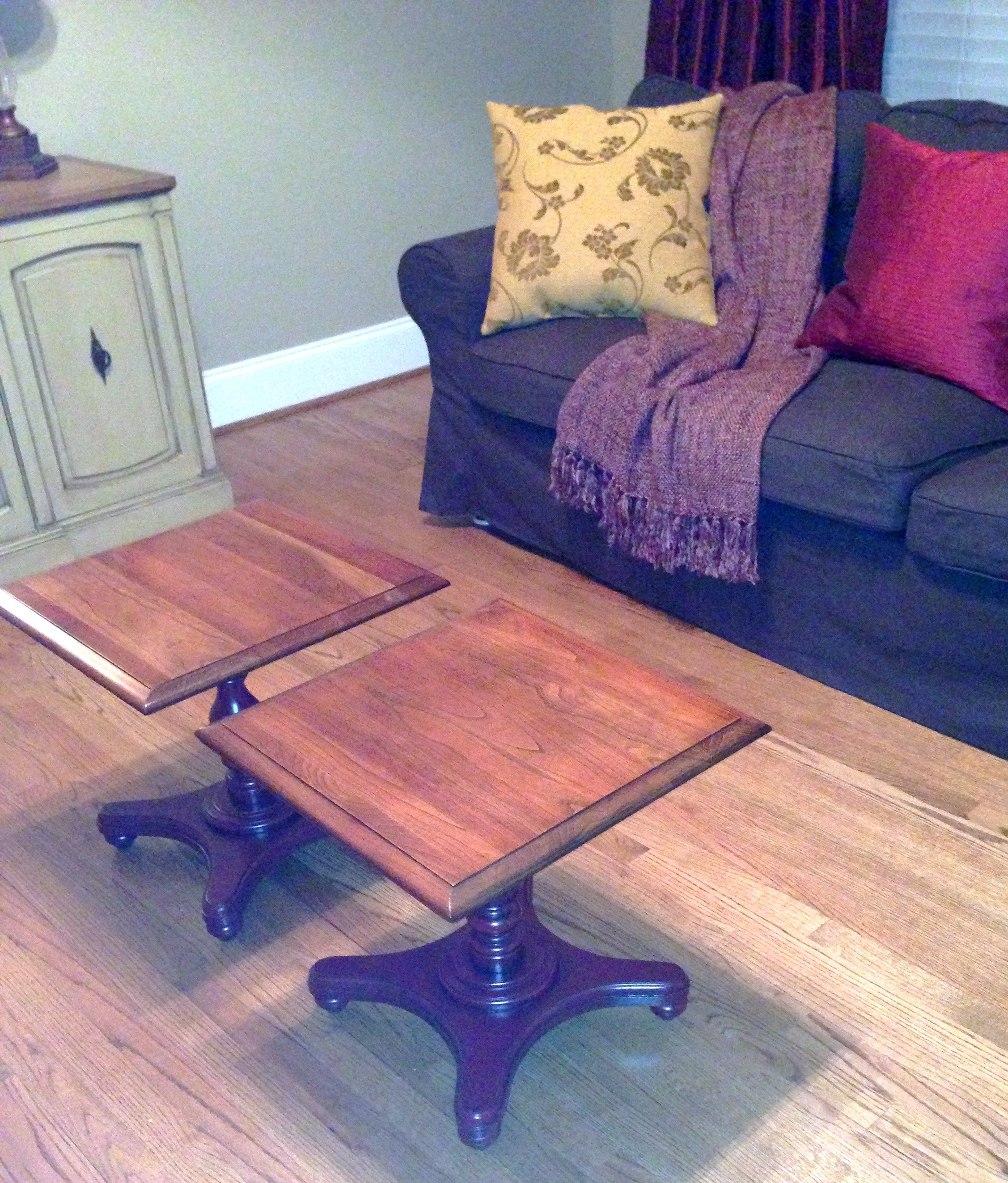 2 end tables coffee table coffee table upcycled