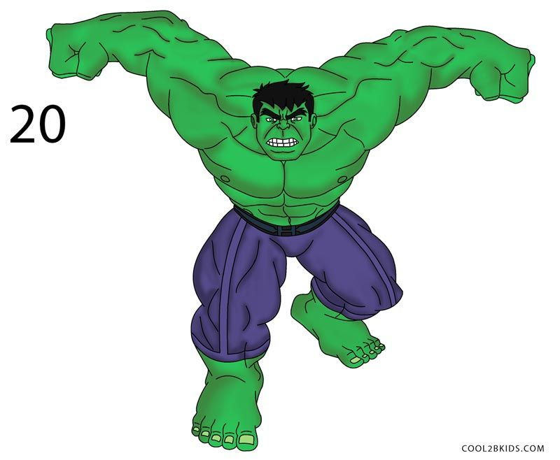 How To Draw Hulk Step By Step Pictures Cool2bkids Hulk Canvas Hulk Canvas Painting Hulk Painting