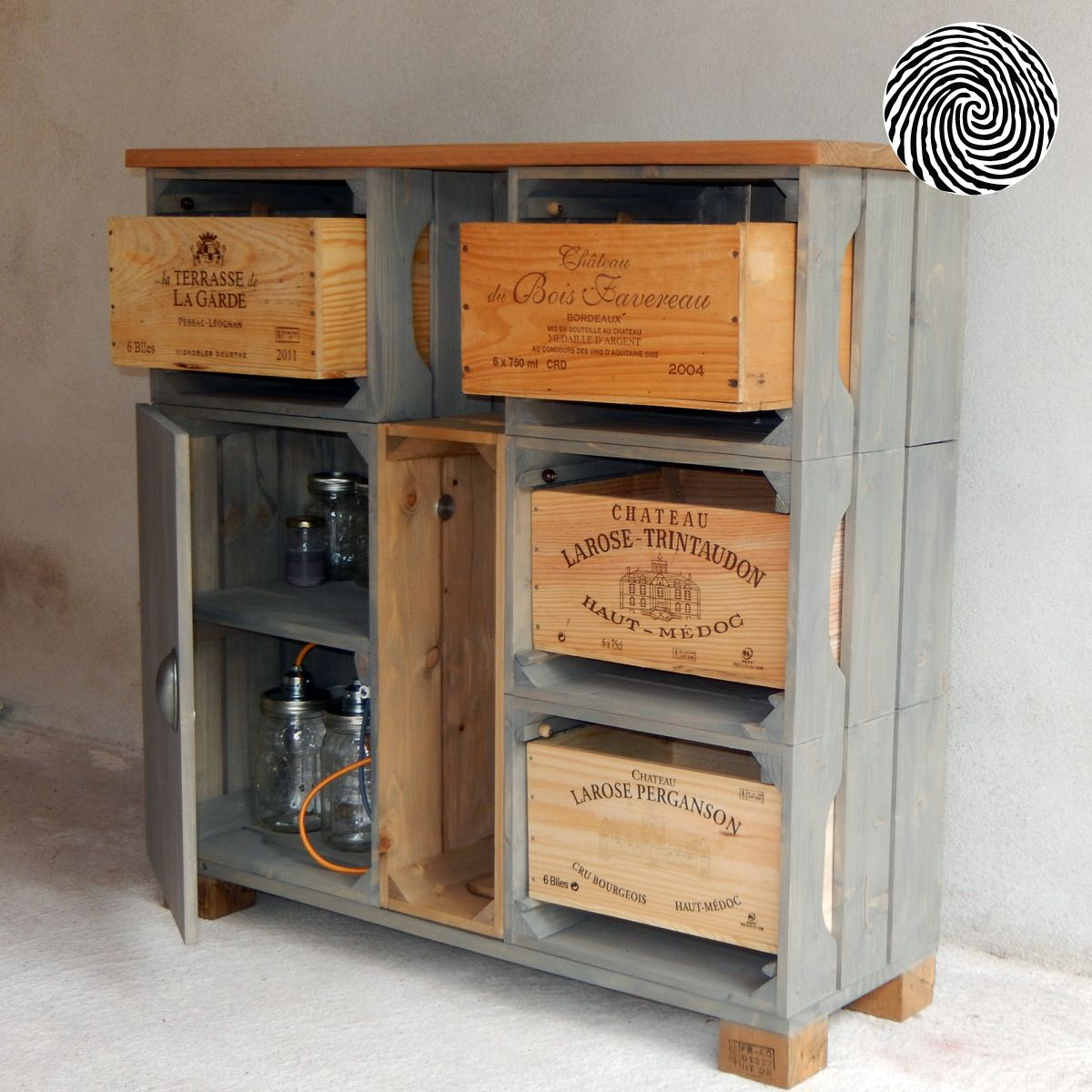 R sultat de recherche d 39 images pour d co caisse bois bouteille cuisine meuble chaussures - Meuble tv caisse bois ...
