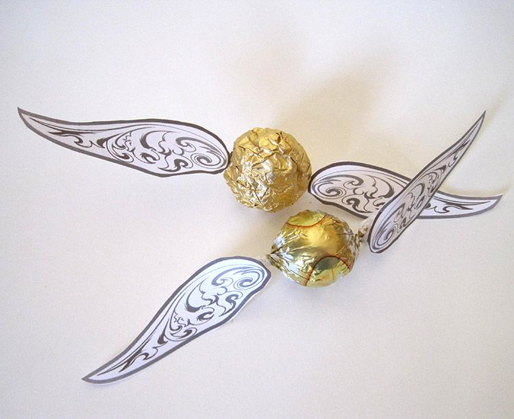 graphic about Golden Snitch Printable called Golden Snitches for a Harry Potter Celebration - Absolutely free PRINTABLE