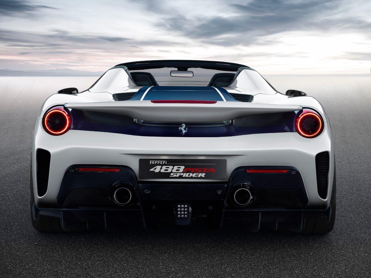 Ferrari Wheels Out Its Most Powerful Convertible Yet The 720 Hp 488 Pista Spider Ferrari Car Ferrari 488 Ferrari
