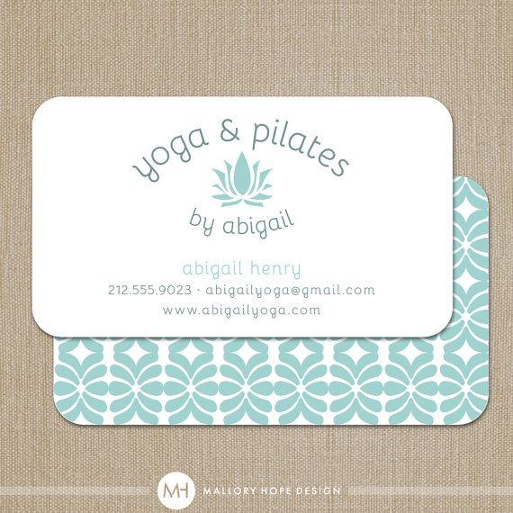 Yoga Instructor Or Pilates Instructor Business Card Calling Card