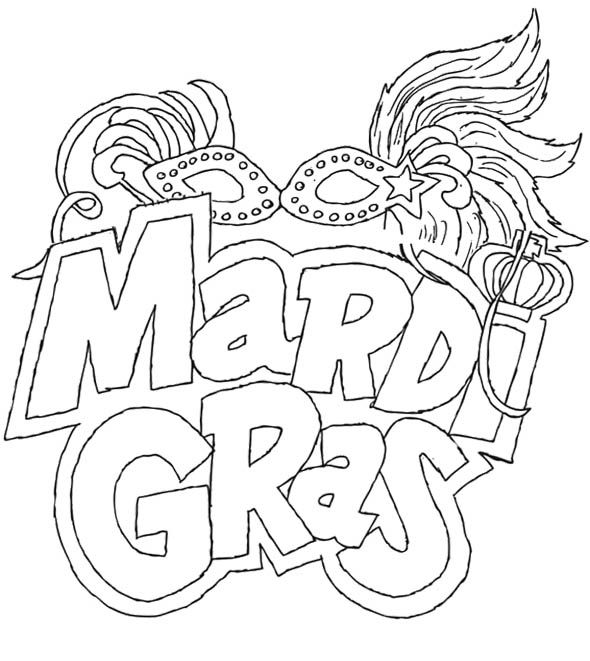 It is a photo of Gargantuan Mardi Gras Coloring Pages Free Printable