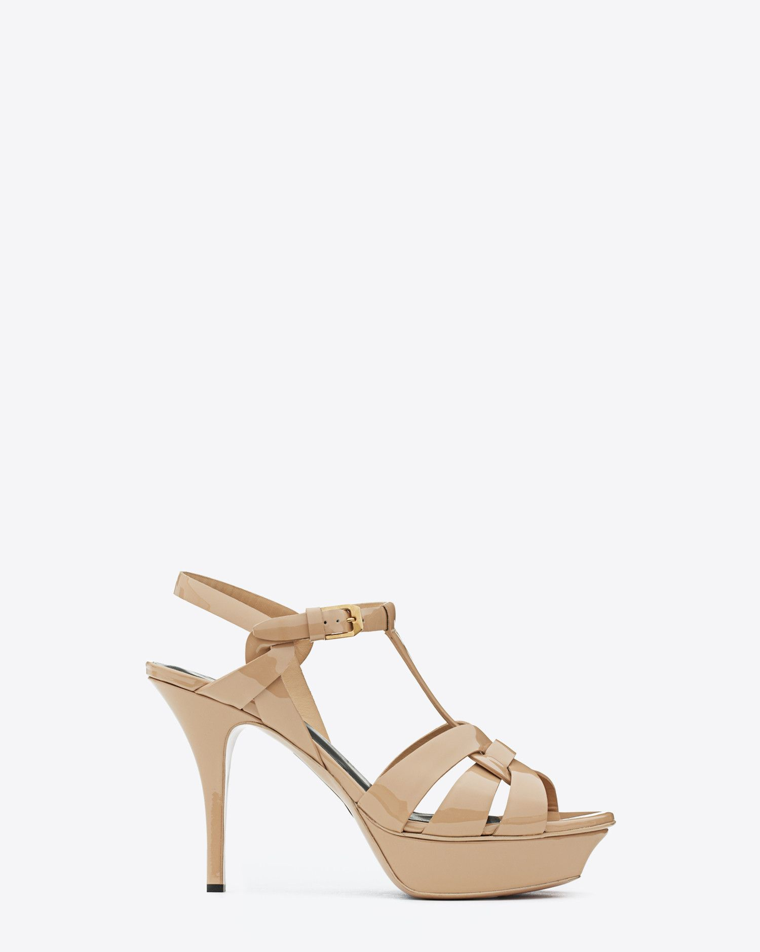77b97fc9486 Saint Laurent CLASSIC TRIBUTE 75 SANDAL IN POWDER PATENT LEATHER - ysl.com