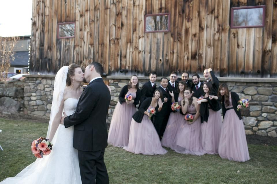 Fall Wedding Ideas Farm Barn Brown Bridesmaid Dresses Lace Dress Attire From Marry And Tux Bridal