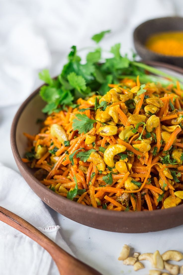 Photo of Bombay Carrot Salad with Cashews and Raisins