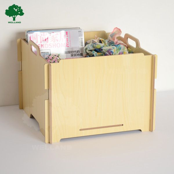 Ikea Collapsible Wooden Foldable Toy Storage Box Photo Detailed