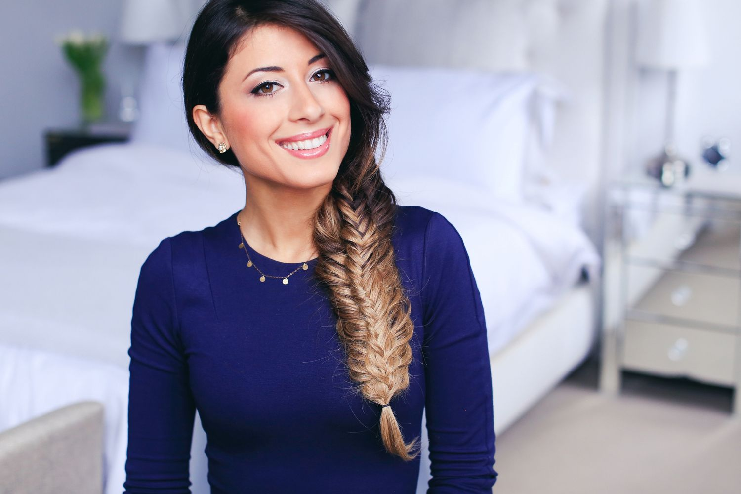 Double Fishtail Braid | super cool, easy and cute braid hairstyle | ombre hair, Luxy hair extensions | See the full tutorial on our Youtube channel: https://www.youtube.com/watch?v=EawDdwtsrGA