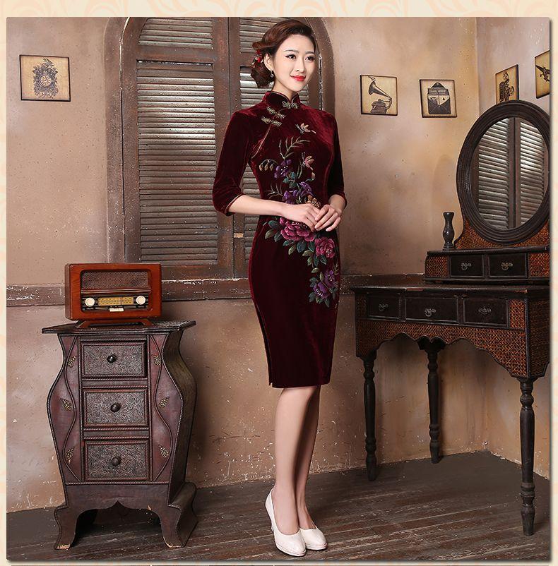 qipao chinese oriental clothing            https://www.ichinesedress.com/