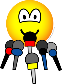 Press conference emoticon