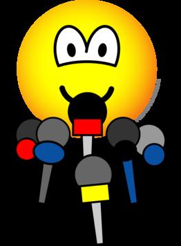 Press conference emoticon | Happy smiley face, Emoticon, Smiley