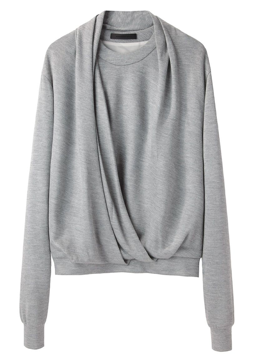 Alexander Wang Draped Neck Sweatshirt La Garconne Sweatshirts Shop Sweatshirts Fashion [ 1158 x 811 Pixel ]