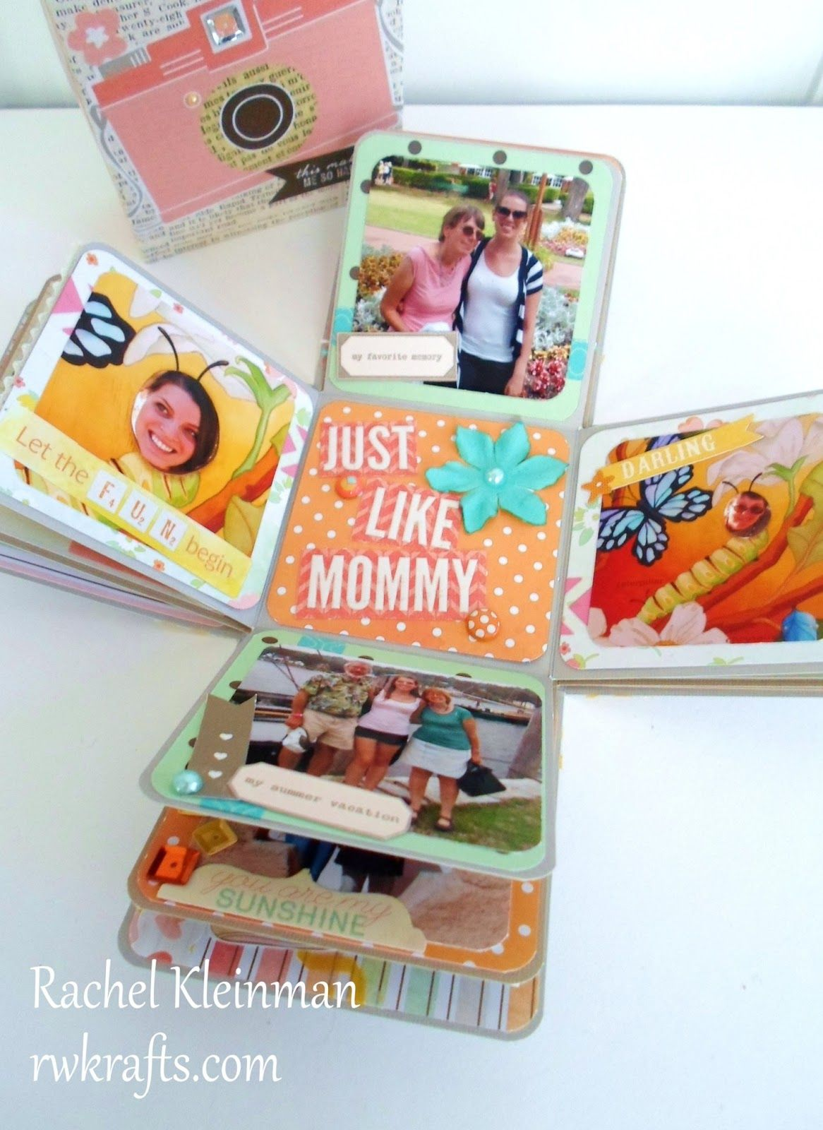 How To Tuesday Make An Exploding Scrapbook Box Pinterest