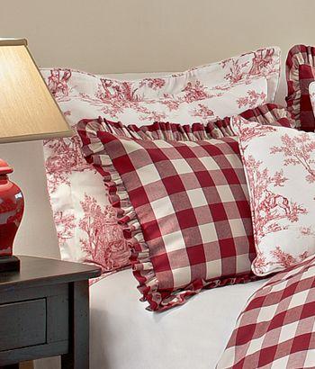 countrycurtains.com has a nice, usa made, cotton, red and white ...