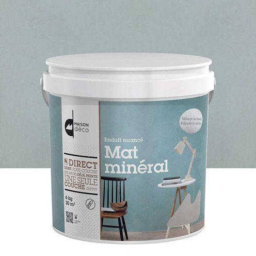 Enduit décoratif Mat minéral MAISON DECO, bleu fjord, 6 kg Loft - peinture satin ou mat