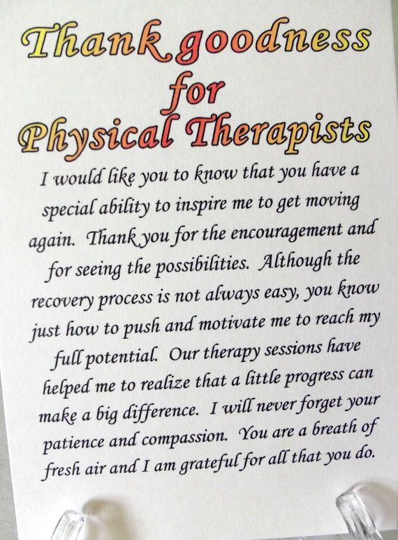 physical therapist card physical therapy card by