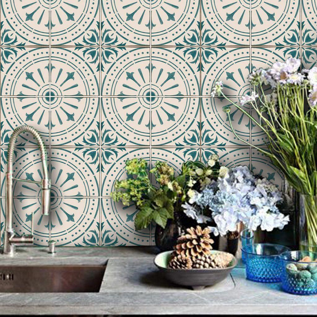 Adhesive Vinyl Tile Decals Suitable For Bathroom Tiles Kitchen Tiles Floorswa Adhesive Vinyl Tile Decals Suitable Vinyl Wallpaper Vinyl Tile Tile Decals