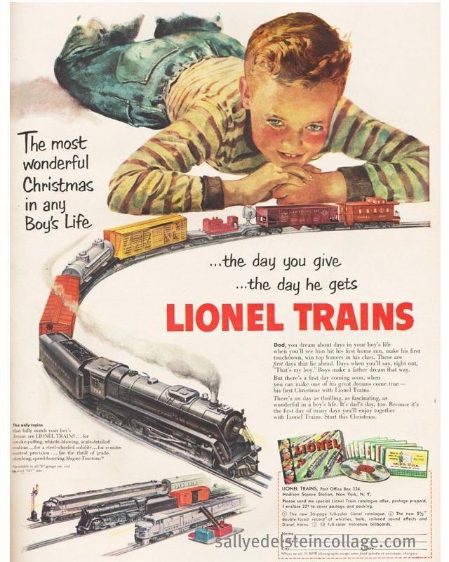 Every Boys Christmas Dream 1951 Lionel Train