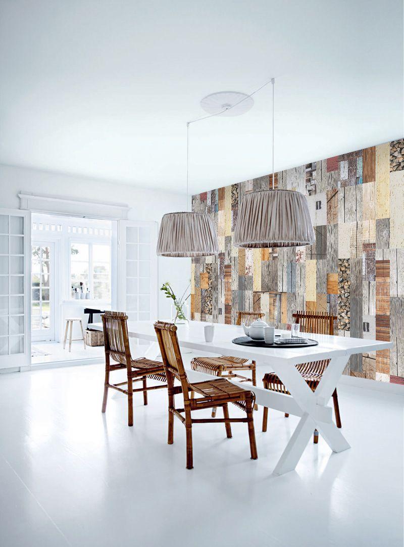 Woonkamer behang Hout - Behangrijk | My Portfolio: Wallpaper ...