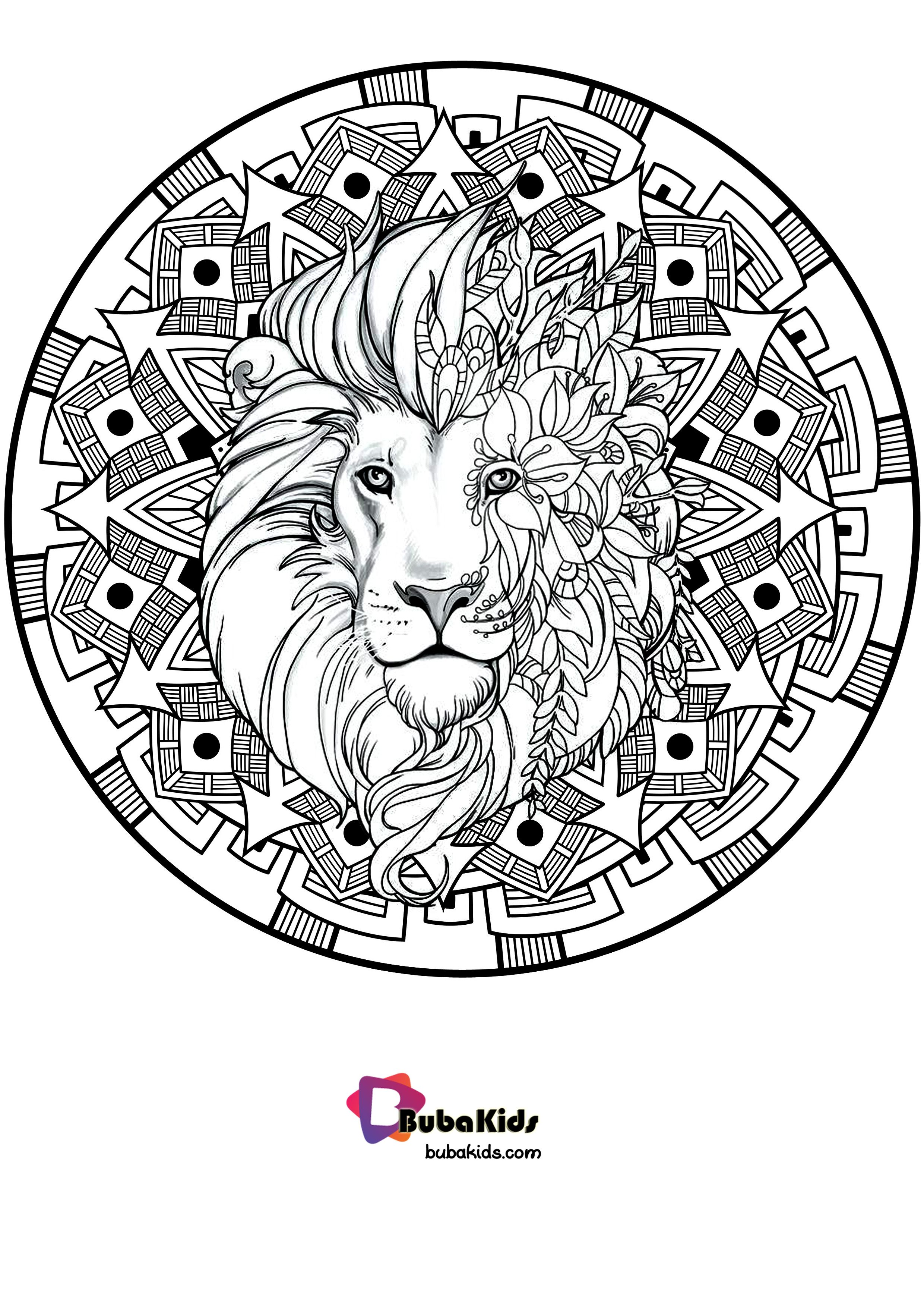 Yeaayyy.. This awesome Mandala with Lion Coloring you can ...