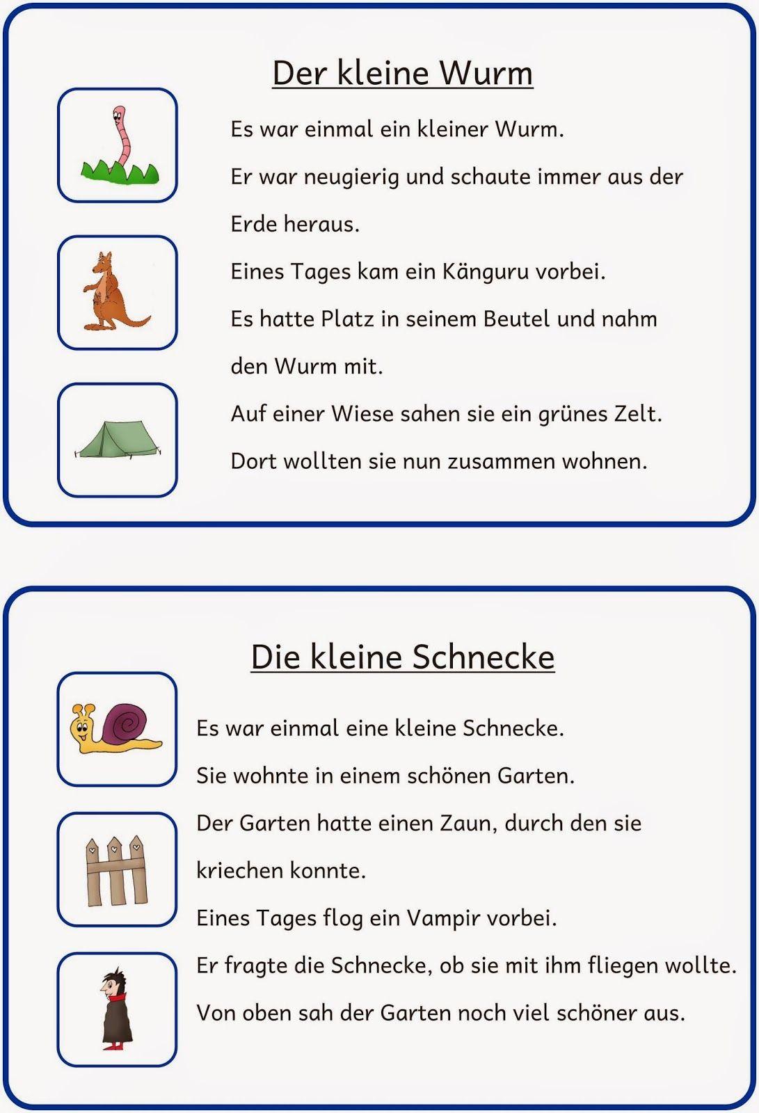 kleine Lese- und Schreibkartei (2) | Schule, Deutsch und Lesen