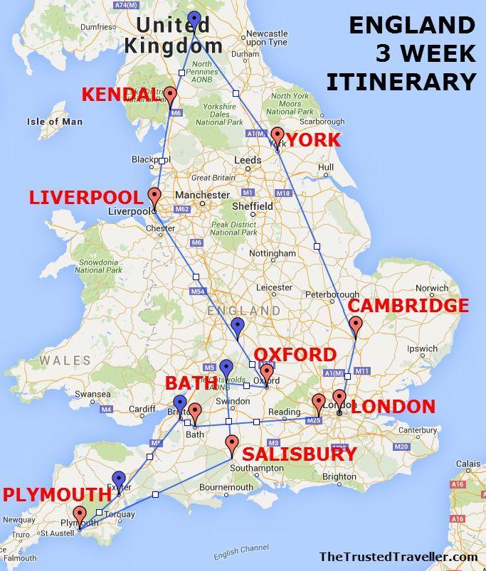 London Uk Map on