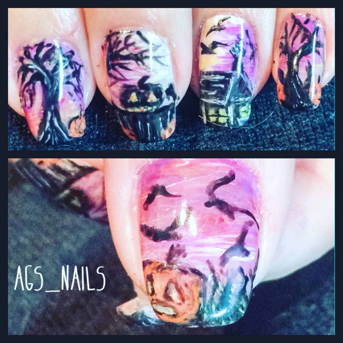 Spooky halloween nails done with gelplay by Akzénts | How ...