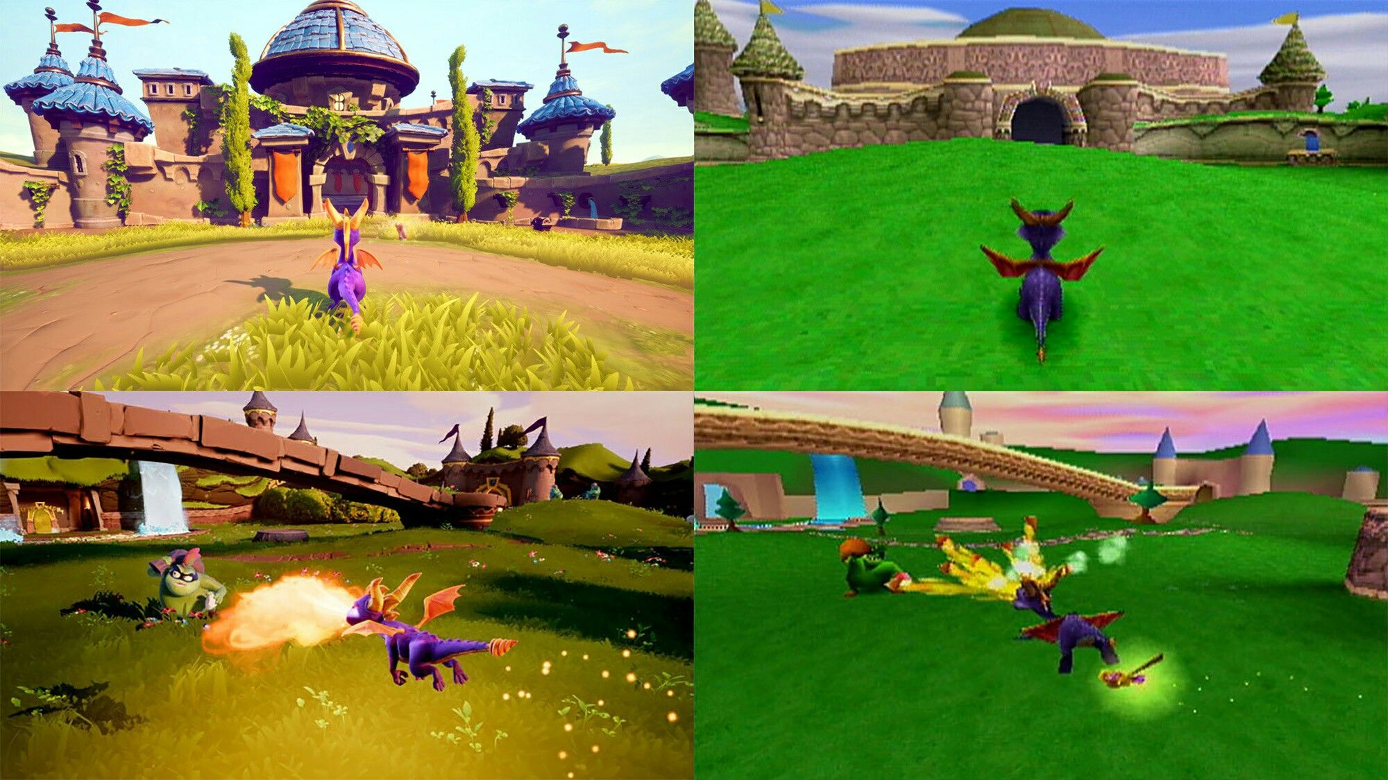 Spyro reignited trilogy ps4 vs ps1 comparison Trilogy
