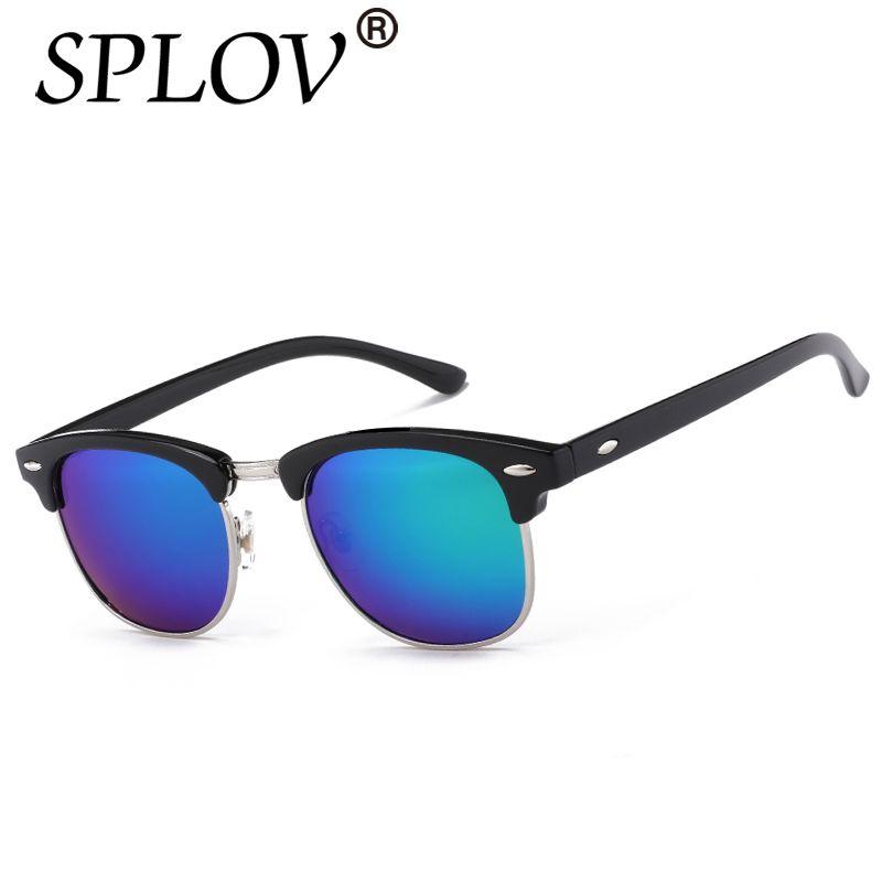acheter Demi-Métal de Haute Qualité lunettes de Soleil Hommes Femmes Marque  Designer Lunettes Miroir 63540c56acac