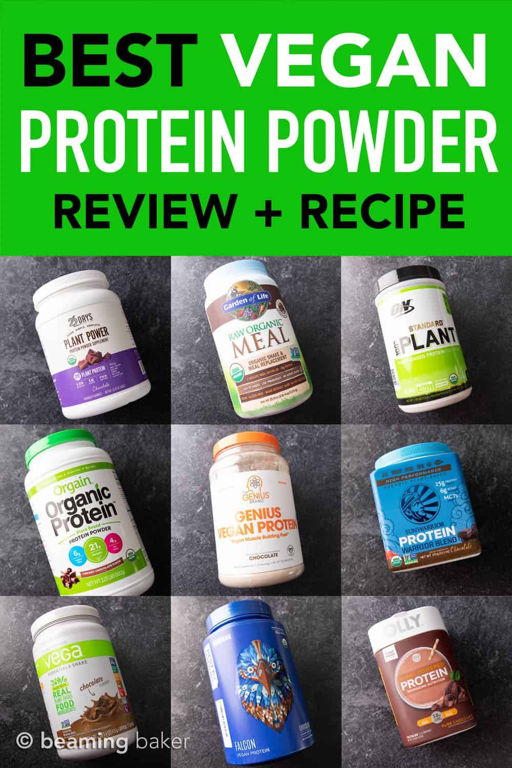 Best Vegan Protein Powder RANKED – Chocolate edition + RECIPE - Beaming Baker