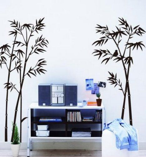 Amazon.com - Hotportgift Bamboo Mural Home Decor Decals Decorative Removable Craft Art Wall Stickers - Home And Garden Products